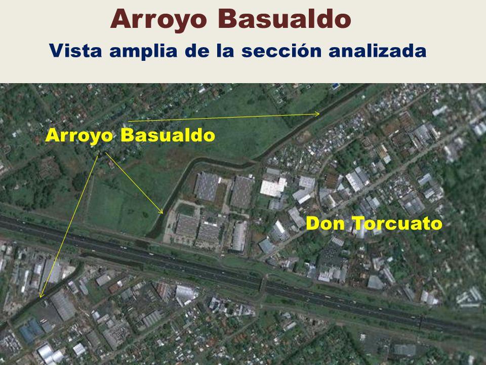 Arroyo Basualdo Vista amplia de la sección analizada Arroyo Basualdo Don Torcuato