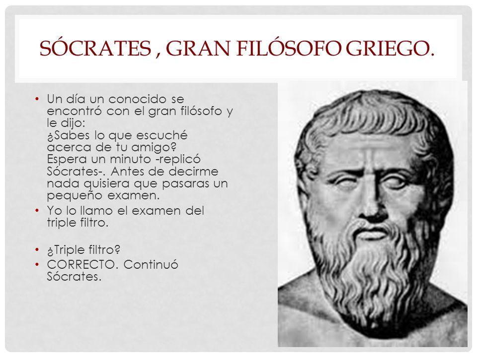 SÓCRATES, GRAN FILÓSOFO GRIEGO.