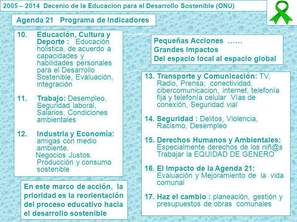 10.Educación, Cultura y Deporte : Educación holistica, de acuerdo a capacidades y habilidades personales para el Desarrollo Sostenible, Evaluación, in