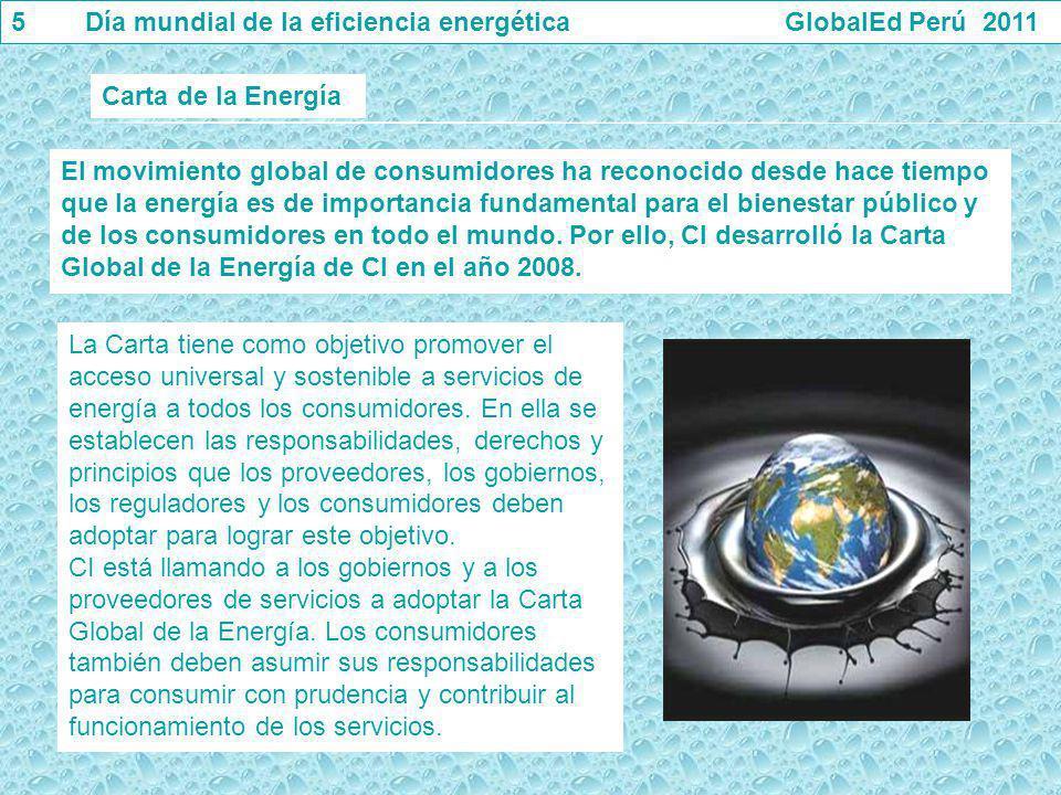 El movimiento global de consumidores ha reconocido desde hace tiempo que la energía es de importancia fundamental para el bienestar público y de los c