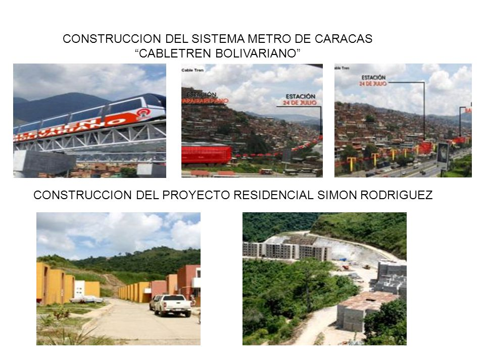 CONSTRUCCION DEL SISTEMA METRO DE CARACAS CABLETREN BOLIVARIANO CONSTRUCCION DEL PROYECTO RESIDENCIAL SIMON RODRIGUEZ