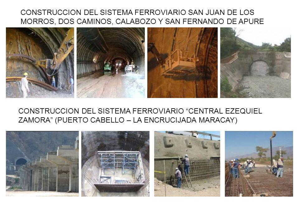 CONSTRUCCION DEL SISTEMA FERROVIARIO SAN JUAN DE LOS MORROS, DOS CAMINOS, CALABOZO Y SAN FERNANDO DE APURE CONSTRUCCION DEL SISTEMA FERROVIARIO CENTRA