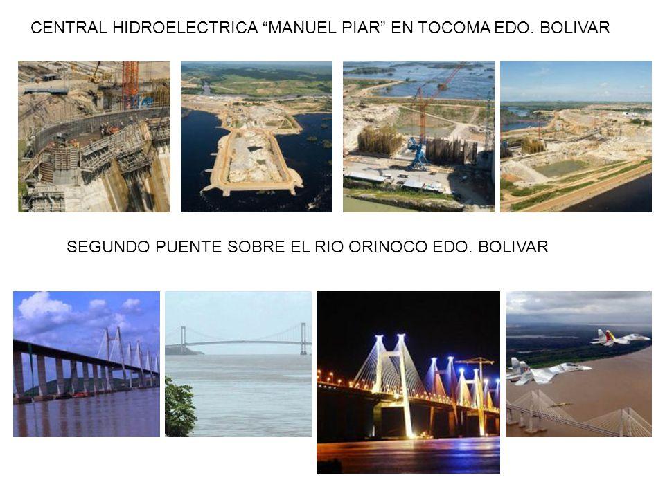 CENTRAL HIDROELECTRICA MANUEL PIAR EN TOCOMA EDO. BOLIVAR SEGUNDO PUENTE SOBRE EL RIO ORINOCO EDO. BOLIVAR