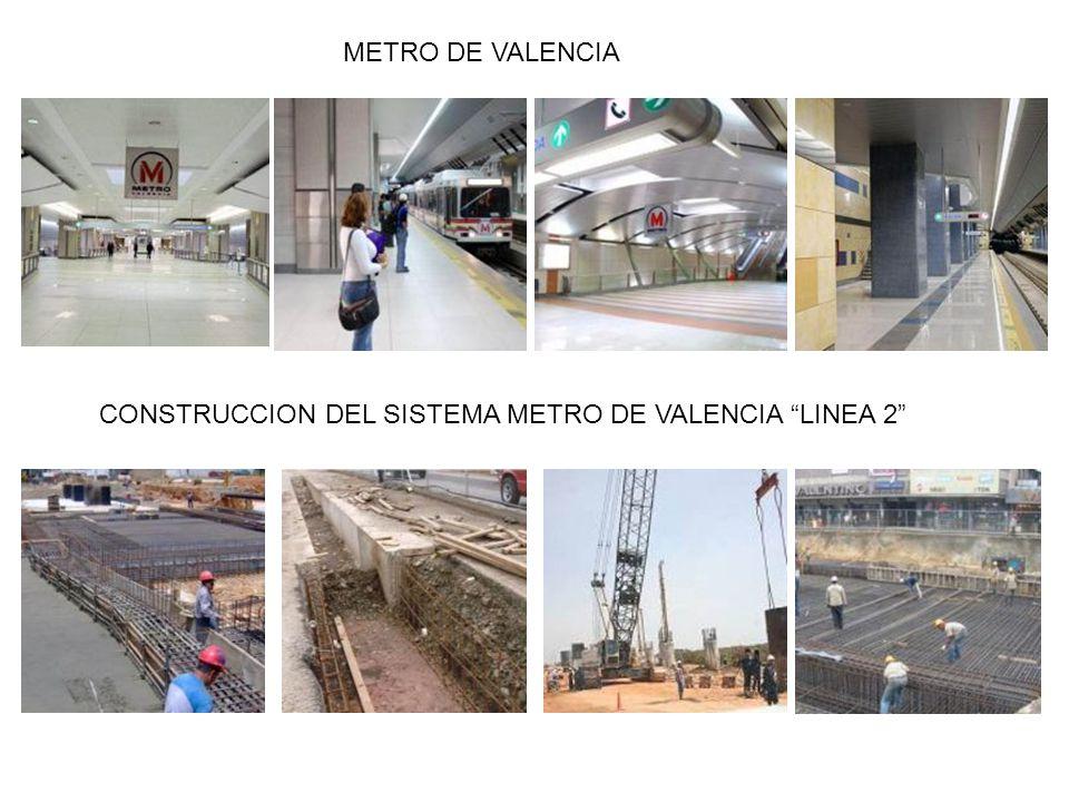 METRO DE VALENCIA CONSTRUCCION DEL SISTEMA METRO DE VALENCIA LINEA 2
