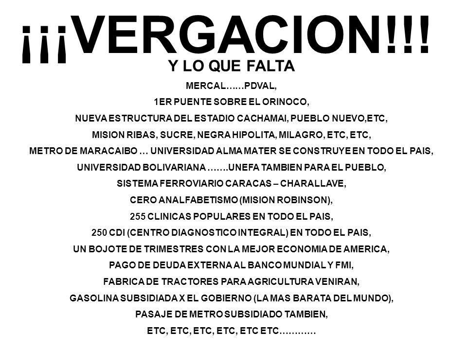 ¡¡¡VERGACION!!.