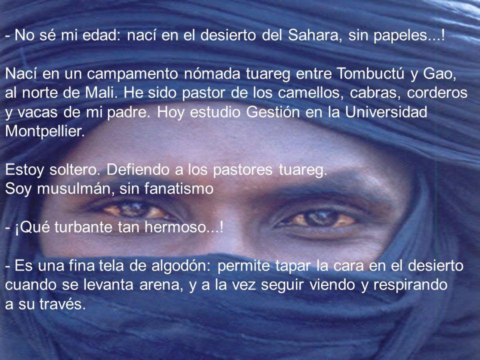 (Una bonita entrevista a un Tuareg realizada por VÍCTOR-M. AMELA a: MOUSSA AG ASSARID)