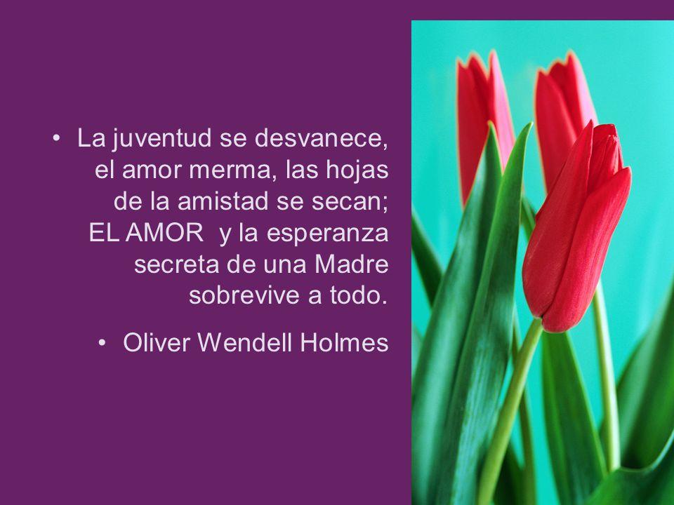 La juventud se desvanece, el amor merma, las hojas de la amistad se secan; EL AMOR y la esperanza secreta de una Madre sobrevive a todo. Oliver Wendel