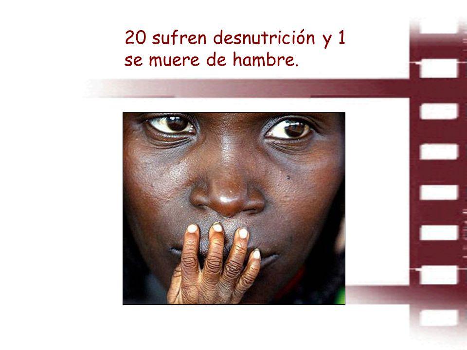 20 sufren desnutrición y 1 se muere de hambre.