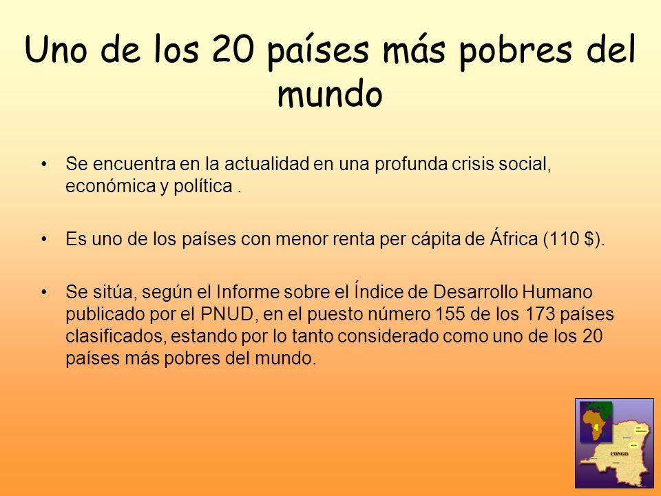 Uno de los 20 países más pobres del mundo Se encuentra en la actualidad en una profunda crisis social, económica y política. Es uno de los países con
