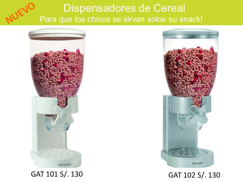 Dispensadores de Cereal Para que los chicos se sirvan solos su snack! NUEVO GAT 101 S/. 130 GAT 102 S/. 130