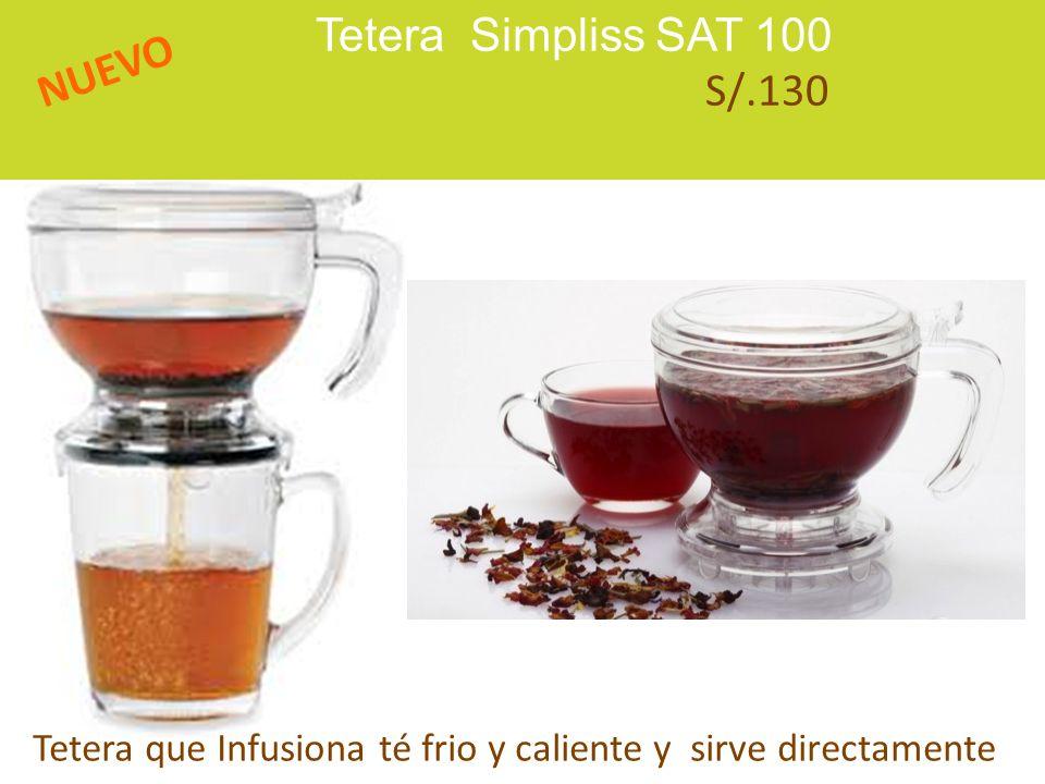 Tetera Simpliss SAT 100 S/.130 NUEVO Tetera que Infusiona té frio y caliente y sirve directamente