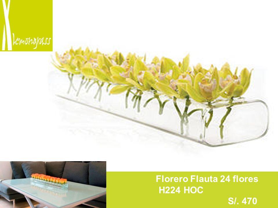 F Florero Flauta 24 flores H224 HOC S/. 470