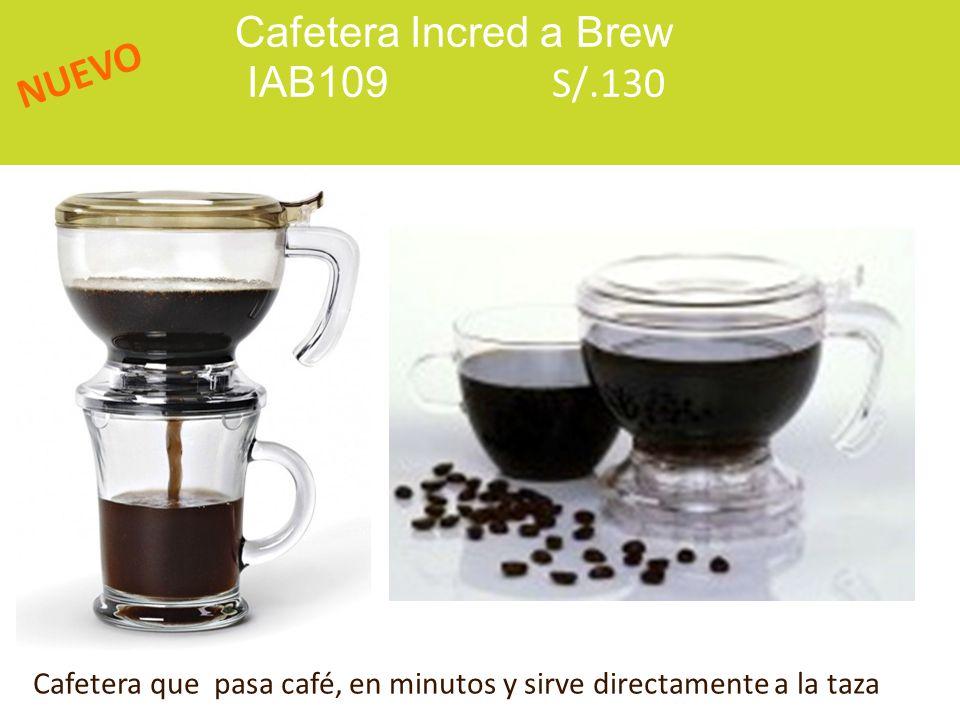 Cafetera Incred a Brew IAB109 S/.130 NUEVO Cafetera que pasa café, en minutos y sirve directamente a la taza
