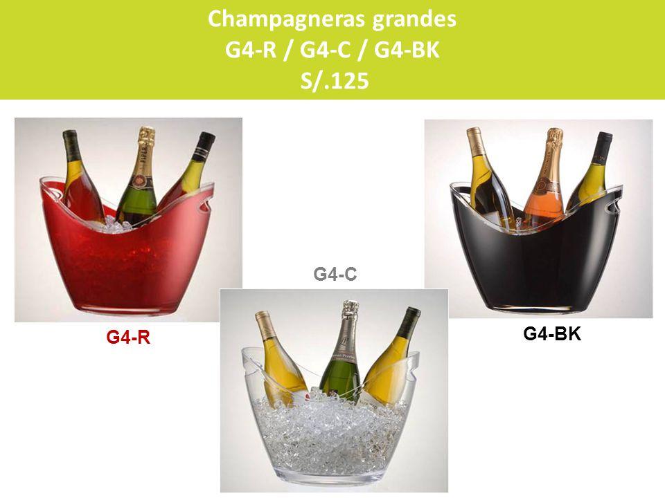 G4-C G4-R G4-BK Champagneras grandes G4-R / G4-C / G4-BK S/.125