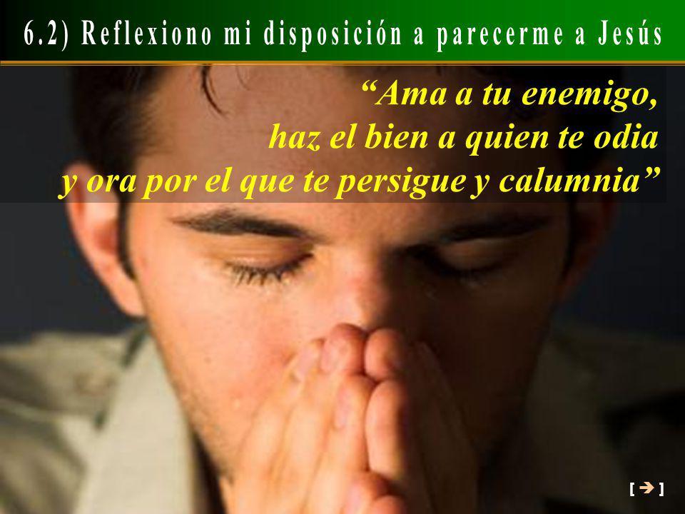 [ ] Ama a tu enemigo, haz el bien a quien te odia y ora por el que te persigue y calumnia