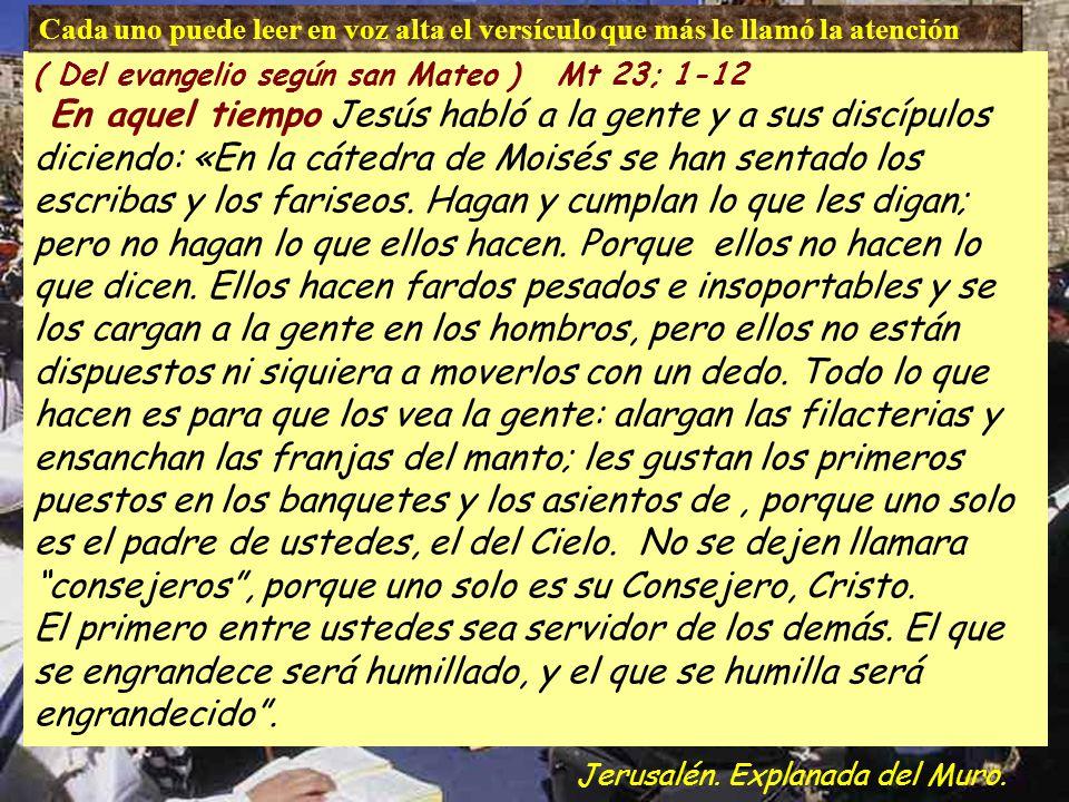 11 El primero entre ustedes sea servidor de los demás. 12 El que se engrandece será humillado y el que humilla será engrandecido