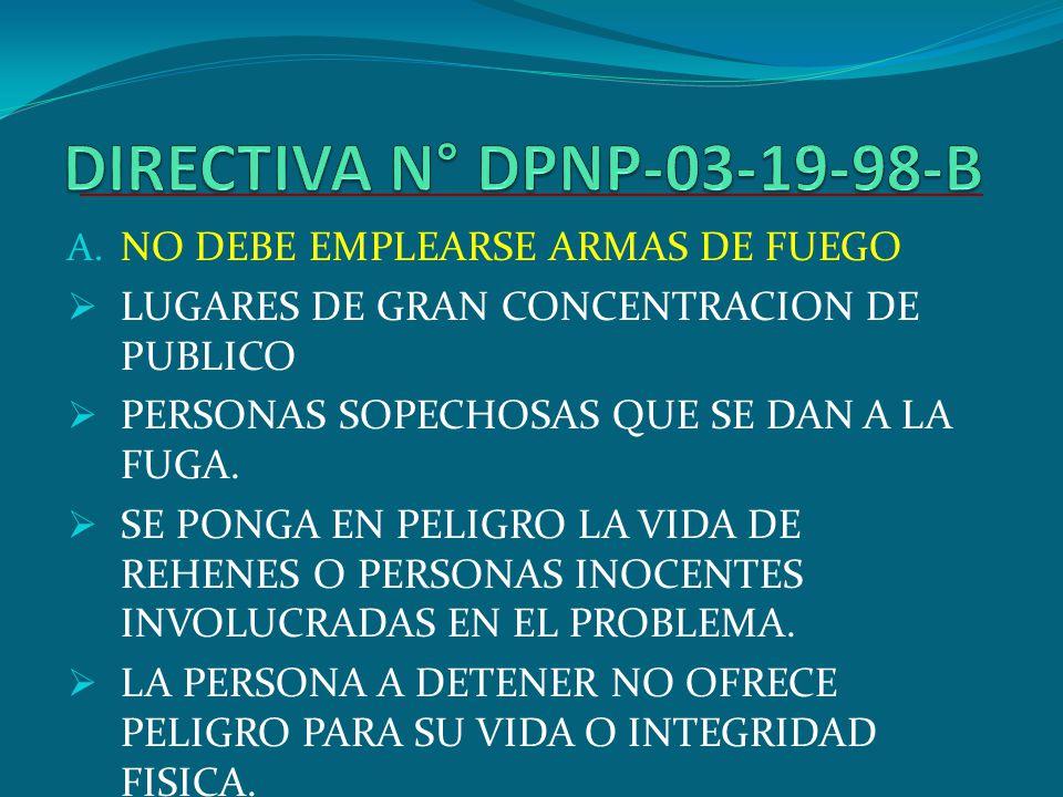 CONSTITUCION POLITICA DEL ESTADO ART. 175.- SOLO LAS FUERZAS ARMADAS Y LA POLICIA NACIONAL DEL PERU PUEDEN POSEER Y USAR ARMAS DE GUERRA.