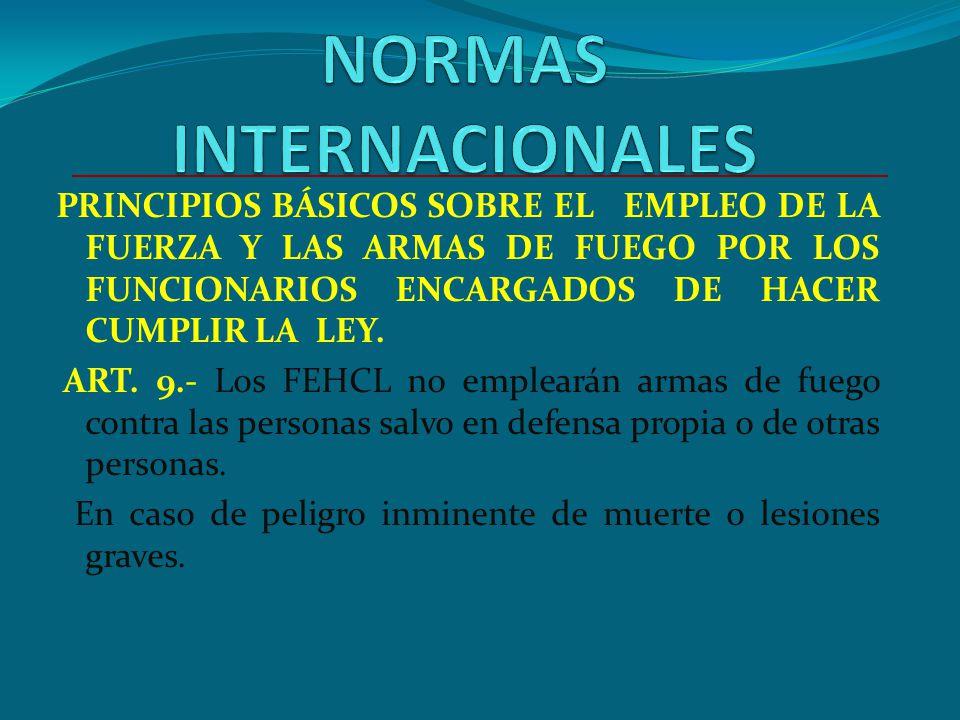 REGLAMENTO DE LA LEY ORGANICA DE LA PNP Art. 11 - Facultades 11.3.- Poseer, portar y usar armas de fuego de conformidad a la constitución y normativid
