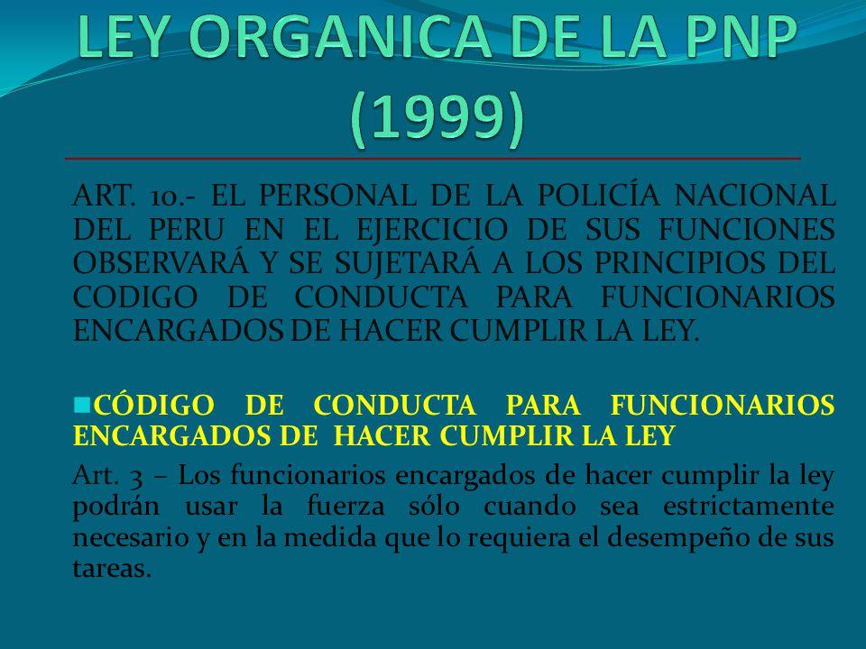 DIRECTIVA N° DPNP-03-19-98-B APRECIACION DE SITUACION TENIENDO EN CUENTA EL PRINCIPIO DE PROPORCIONALIDAD O EQUIPARIDAD. EN FORMA RACIONAL EVITANDO PO