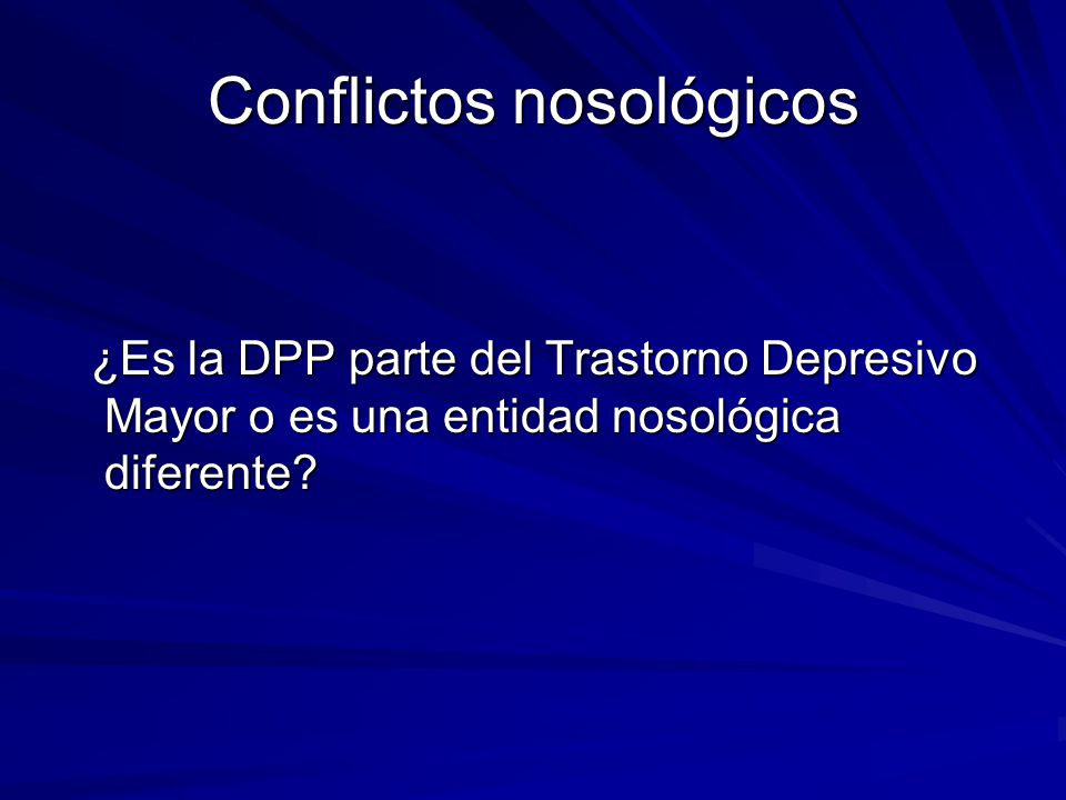 Depresión Postparto: Cuadro Clínico 1.Humor depresivo.