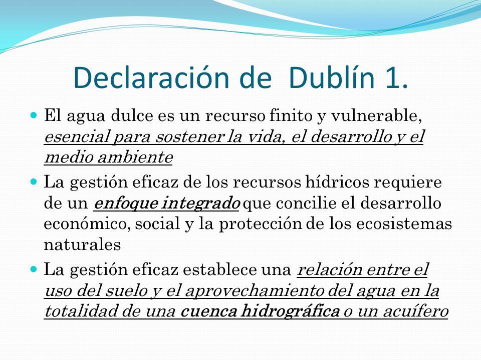Otros principios RED VIDA: – El derecho al agua es intrínseco al DERECHO A LA VIDA, como se consigna en la Declaración Universal de los Derechos Humanos.