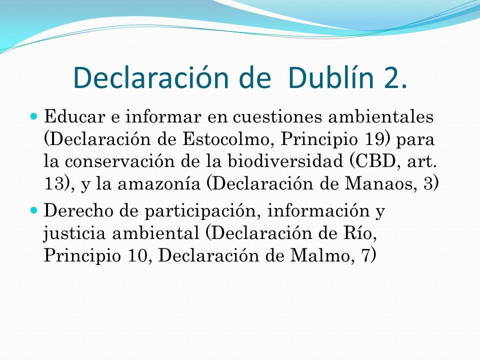Declaración de Dublín 3.