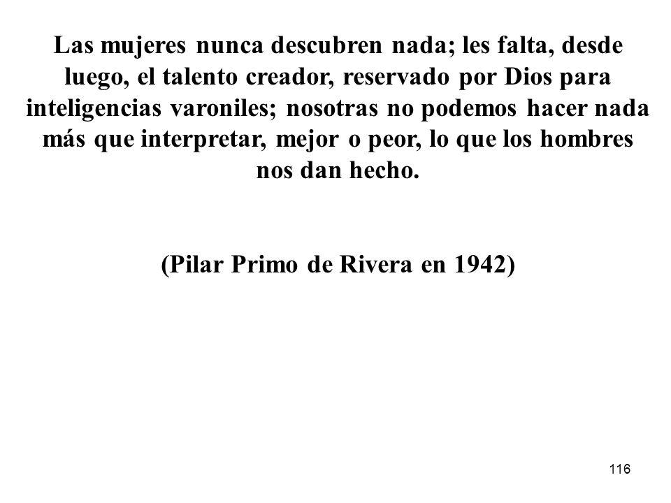 115 Pilar Primo de Rivera Responsable de la Sección Femenina