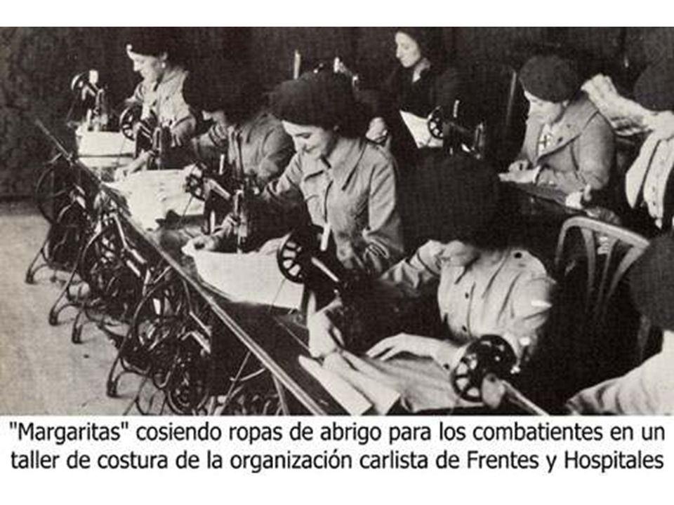 117 La Sección Femenina desempeñó su labor en las oficinas del Estado Mayor, en las cárceles, en las enfermerías y en los lavaderos de los frentes.