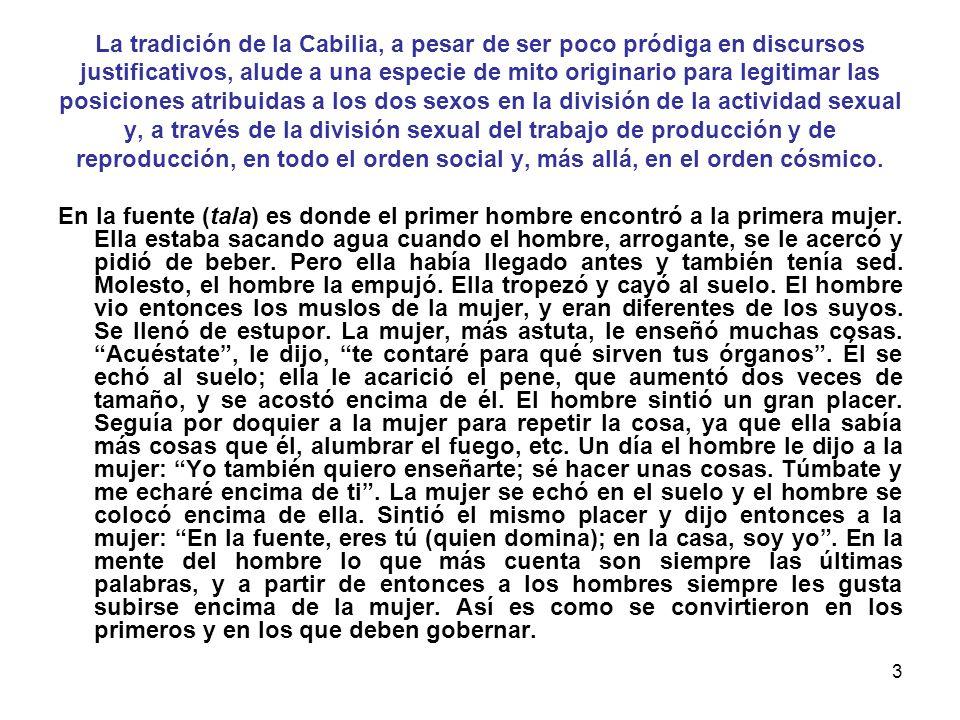 2 LA DOMINACIÓN MASCULINA (Texto elaborado a partir del libro La dominación masculina de Pierre Bourdieu y el artículo La mujer libre de Emma Goldman)