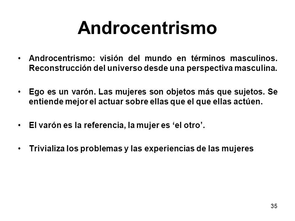34 La visión androcéntrica Los otros