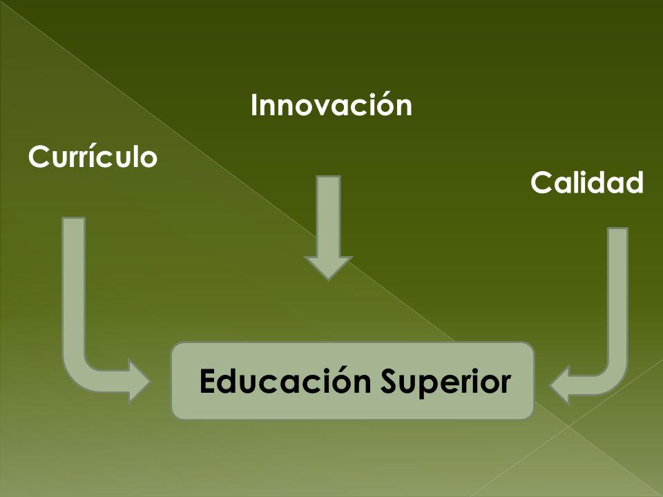 Currículo Innovación Calidad Educación Superior