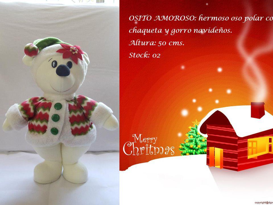 RENO COJIN: tierno y decorativo reno con chalina navideña. Largo: 50 cms. Stock: 01. Stock: 01