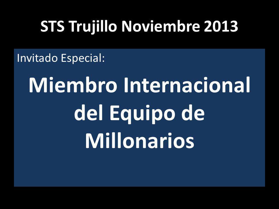 STS Trujillo Noviembre 2013 Invitado Especial: Miembro Internacional del Equipo de Millonarios