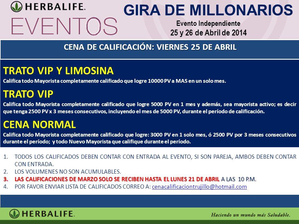 TRATO VIP Y LIMOSINA Califica todo Mayorista completamente calificado que logre 10000 PV a MAS en un solo mes. TRATO VIP Califica todo Mayorista compl