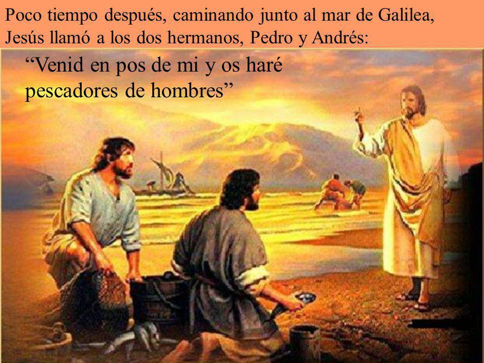 La primera noticia que tenemos sobre san Pedro es cuando Andrés llevó ante Jesús a su hermano Simón. Jesús le dice: En adelante te llamarás Pedro…