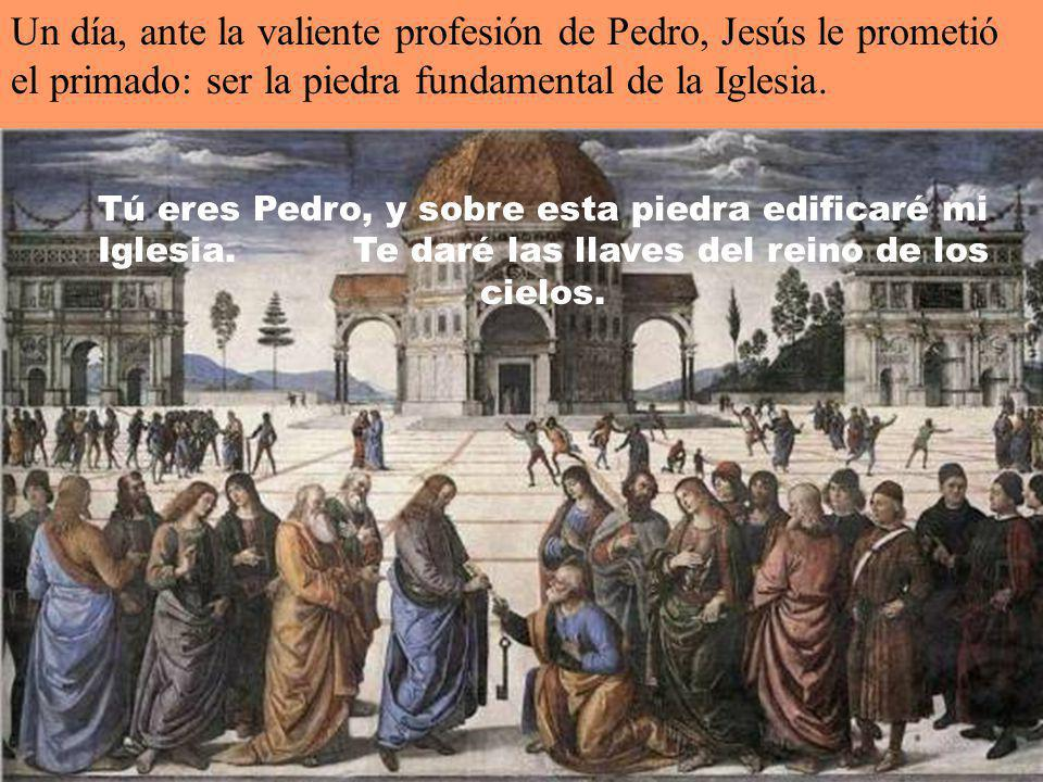 Poco tiempo después, caminando junto al mar de Galilea, Jesús llamó a los dos hermanos, Pedro y Andrés: Venid en pos de mi y os haré pescadores de hom