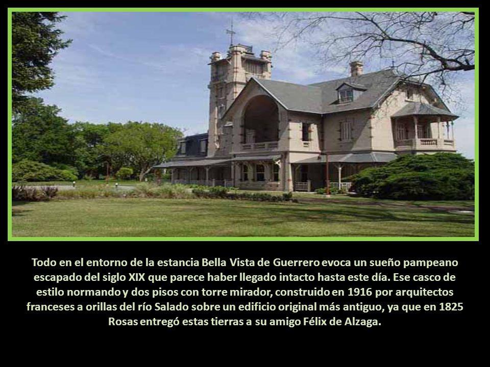 EL CASCO ACTUAL, CONSTRUIDO SOBRE UN EDIFICIO DEL SIGLO XIX. A orillas del río Salado, Provincia de Buenos Aires, Argentina, el magnífico casco norman