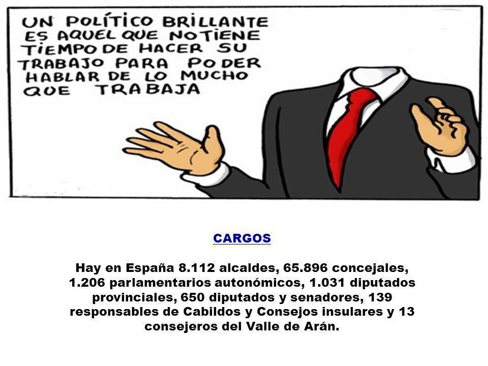 CALDERA, JESÚS El ex ministro de Trabajo y Asuntos Sociales recibe 6.319 euros mensuales por su escaño en la cámara baja, donde redondea su sueldo com