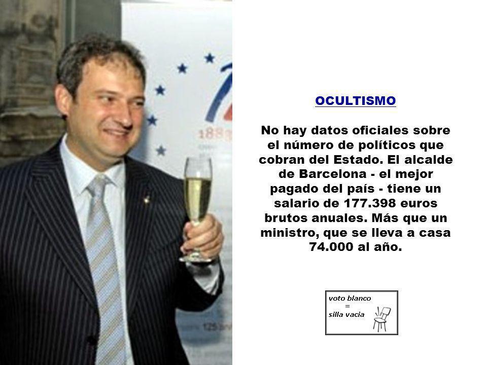 NÓMINAS Los sueldos de los políticos electos (80.000 miembros de La Casta, que llenarían un estadio como el del Real Madrid) cuestan a los ciudadanos