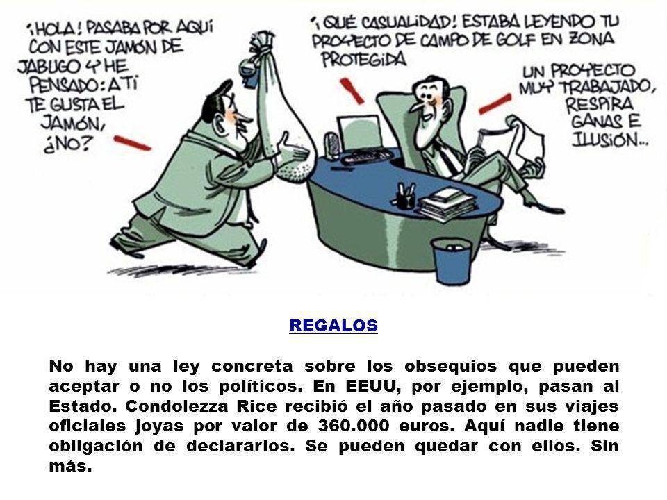 RAJOY, MARIANO Se embolsa cada mes 8.996 euros (sin contar otros complementos): 3.126 por ser diputado, 870 para alojamiento (más que el salario mínim