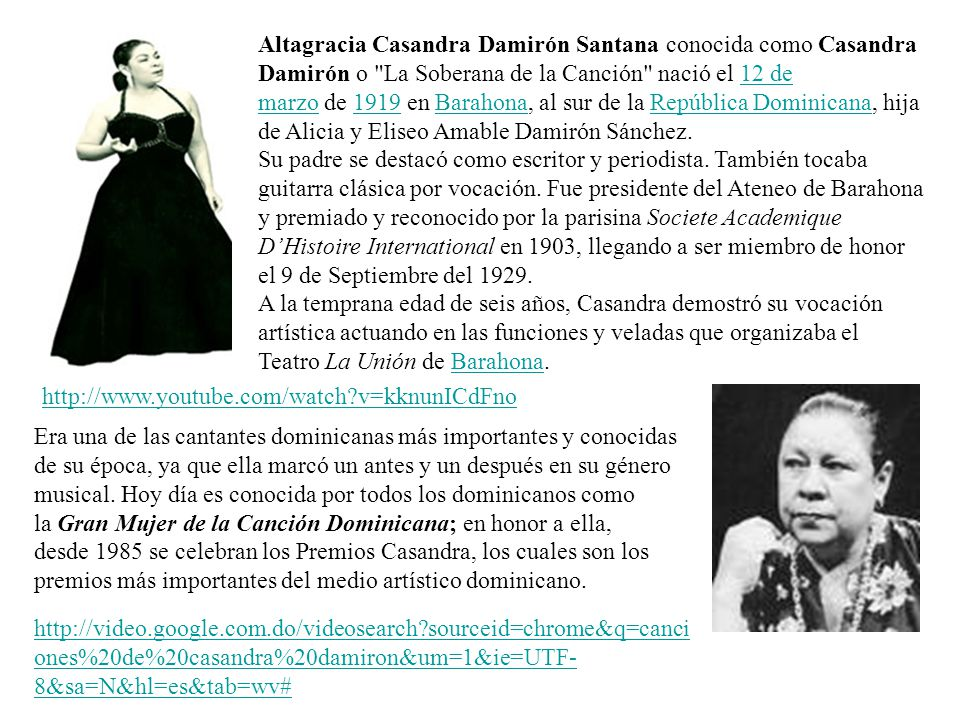 Altagracia Casandra Damirón Santana conocida como Casandra Damirón o