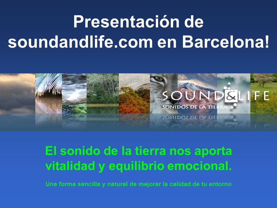 Presentación de soundandlife.com en Barcelona.