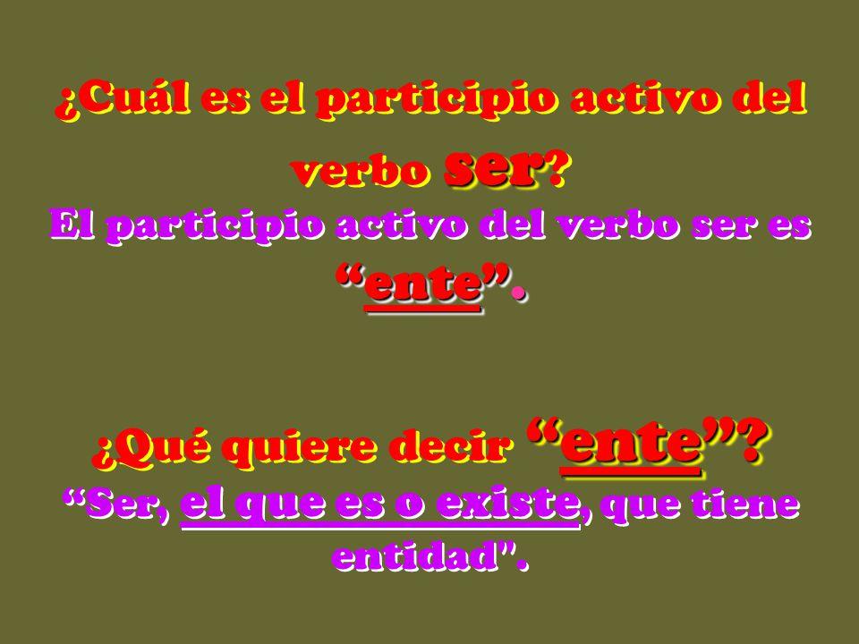 participios activos, En español existen los participios activos, derivados de los tiempos verbales. atacantesaliente cantante existente … El participi