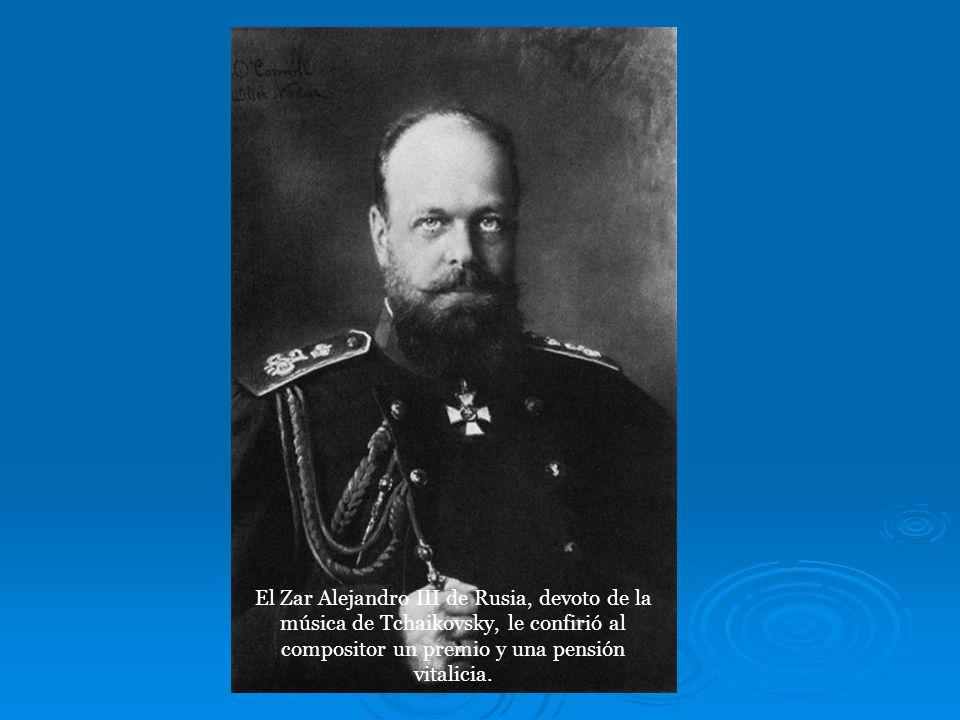 Las principales obras del genial compositor ruso Tchaikovsky son los ballets El lago de los cisnes, La bella durmiente y El cascanueces; la obertura-f