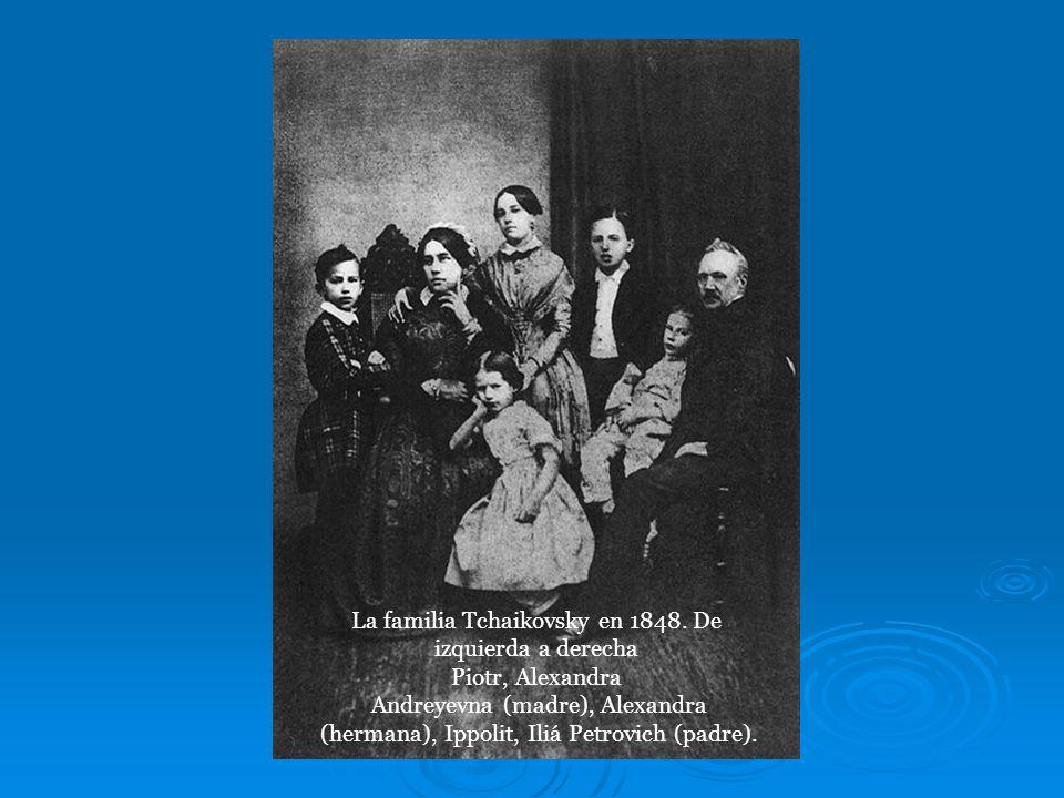 La familia Tchaikovsky en 1848.