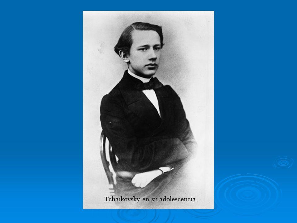 Tchaikovsky en su adolescencia.