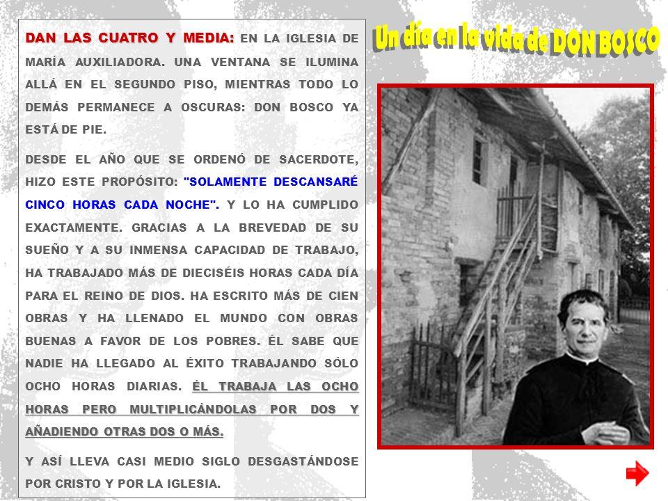 DAN LAS CUATRO Y MEDIA: DAN LAS CUATRO Y MEDIA: EN LA IGLESIA DE MARÍA AUXILIADORA.