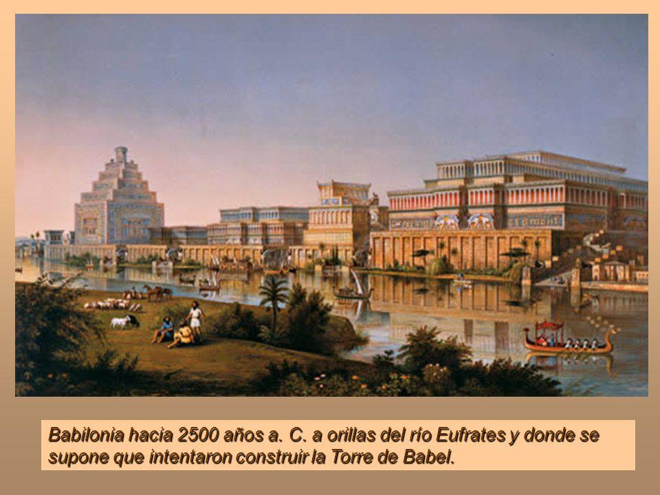 Vamos a empezar este viaje con unas imágenes de Babilonia y una de las Siete Maravillas del mundo antiguo, sus Jardines Colgantes. Clic en cada diapos