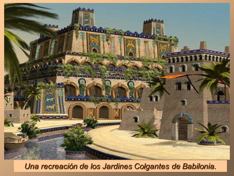 Babilonia hacia 2500 años a. C. a orillas del río Eufrates y donde se supone que intentaron construir la Torre de Babel.