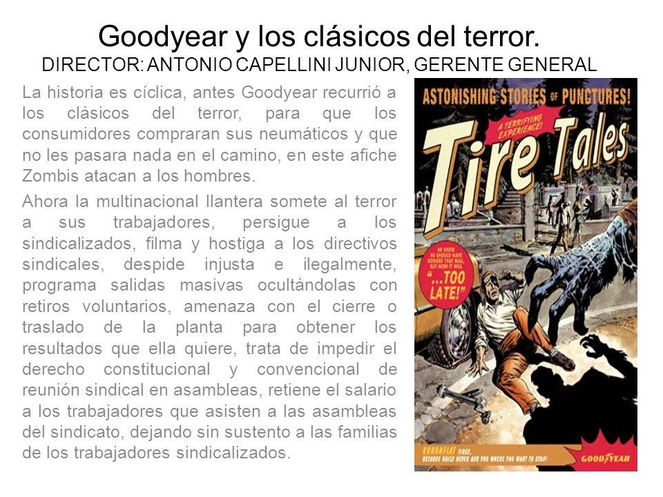 Goodyear y los clásicos del terror.